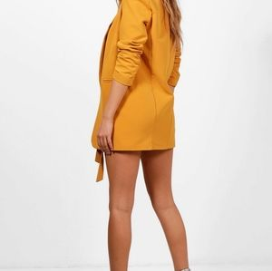 Boohoo Jackets & Coats - 2 Boohoo Collarless Blazers Scrunched Sleeves